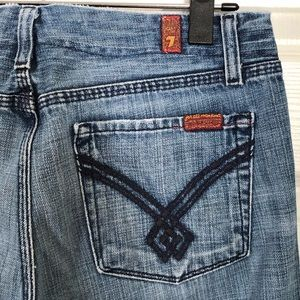 7 for all mankind gaucho jeans size 28  B 40